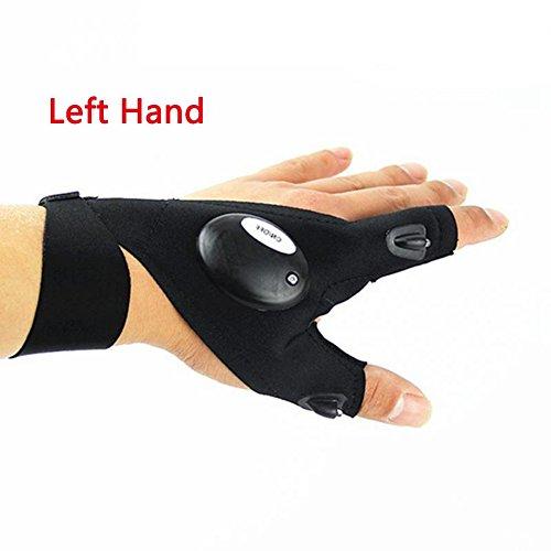 Fcostume Angeln Handschuhe, Nacht Angeln Handschuh mit LED-Licht Rescue Tools Outdoor Gear