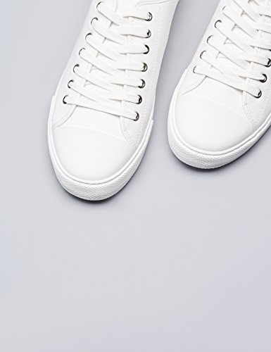FIND Sneakers Basses à Lacets Homme Blanc (White)