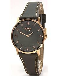Boccia Damen-Armbanduhr Analog Quarz Leder 3254-03
