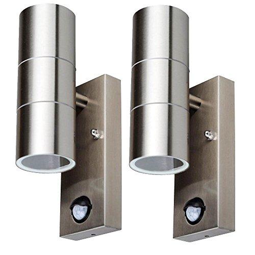set-di-2-in-acciaio-inox-su-giu-lampade-luci-rilevatore-di-movimento-argento-fuori-facciate-rifletto