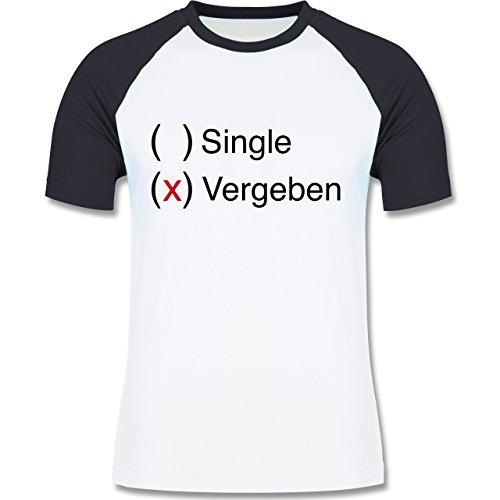 Shirtracer Statement Shirts - Vergeben - Herren Baseball Shirt Weiß/Navy Blau