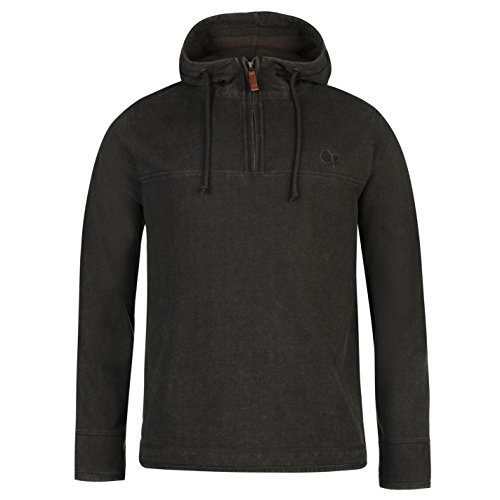 ocean-pacific-hommes-pique-sweat-a-capuche-hoodie-hoody-top-haut-casual-zippe-gris-fonce-xx-large