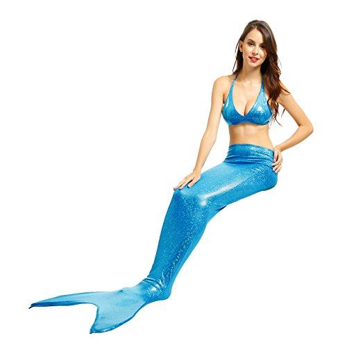 Anladia 2-teilige Mädchen Meerjungfrau Mermaid Bikini Set Badeanzug Meerjungfrau Schwanz Schwimmanzug