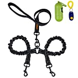 Dual Dog Leash, Double Dog Leash,360 Swivel No Tangle Double Dog Walking