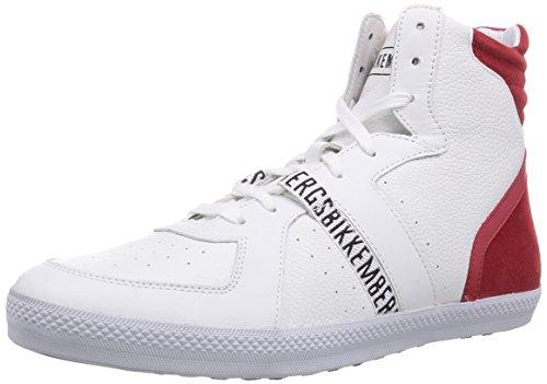 Bikkembergs 660290, Baskets hautes homme Blanc - Weiß (weiß/rot)