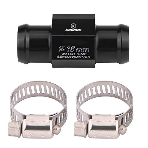 Adaptateur de Capteur de Température de l'Eau Universel de Voiture en Alliage d'aluminium Jauge de Tuyau Joint de Radiateur 18mm 22mm avec 2 Pinces(22mm)