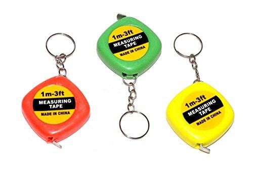 Preisvergleich Produktbild 6 stk. Schlüsselanhänger Schlüsselring Maßbänder Zentimetermaß Metermaß Maßband 1m - 3ft NEU