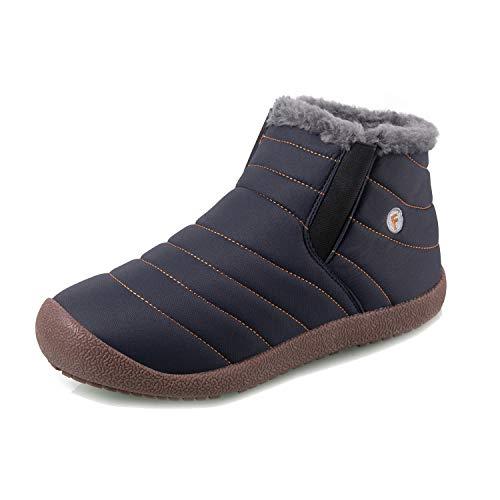 IceUnicorn Womens Mens Snow Boots Warm Winter Booties Faux Fur Lined  Lightweight Outdoor Boots Anti Slip acb87a083da0