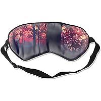 Schlafmaske mit Erdwalddruck, verstellbarer Kopfband, Augenmaske preisvergleich bei billige-tabletten.eu
