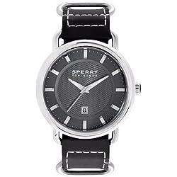 Sperry 103066 Damen schwarz Lederband schwarzes Zifferblatt Smart Watch