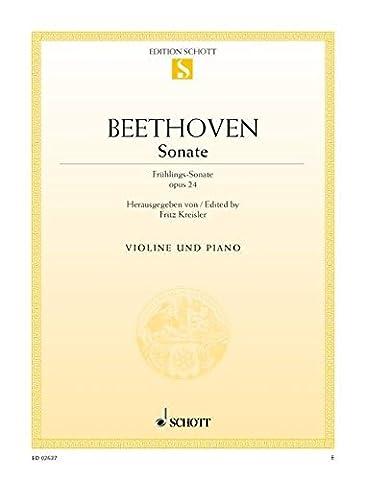Sonate: Frühlings-Sonate. op. 24. Violine und Klavier. (Edition Schott Einzelausgabe)