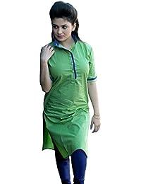 Muta Fashions Cotton Green Women Kurti(KURTI173)