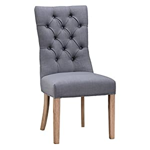 41Uwimw9GxL. SS300  - The Furniture Outlet Regent Grey Button Back Dining Chair