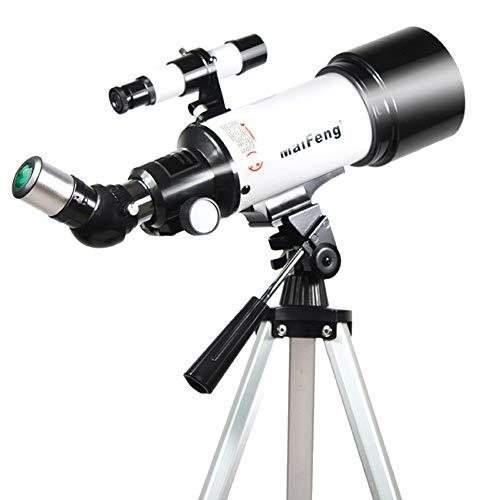Mhwlai Teleskop, Einsteigerteleskop für Kinder und Jugendliche, 400 / 70mm, tragbares Stativ, Smartphone-Adapter