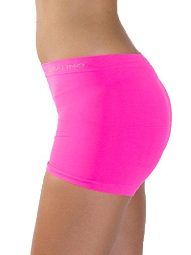 d9f203841eea Love My Fashions® Womens Underwear Plain High Waist Ladies Seamless Stretch  Boxer Shorts S M L XL