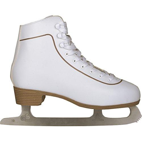 Schreuders sport da donna in pelle Nijdam figure skate, donna, Nijdam, White, Taglia 36