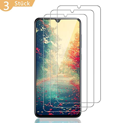 PHDE Panzerglas Displayschutzfolie für Samsung Galaxy A70 [3 Stück],9H Härte 0.26mm HD Transparent Panzerfolie Kratzfest,Blasenfrei Tempered Glass Schutzfolie,[3D-Touch Folie]