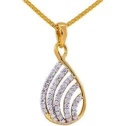 Joyalukkas Pride Diamond Collection 18K Yellow Gold and Diamond Pendant