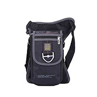 Innturt Nylon Messenger Shoulder Leg Bag Fanny Pack Color Black
