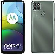 هاتف موتو جي 9 باور، ذاكرة روم 128 جيجا، ذاكرة رام 4 جيجا، رمادي مخضر لامع
