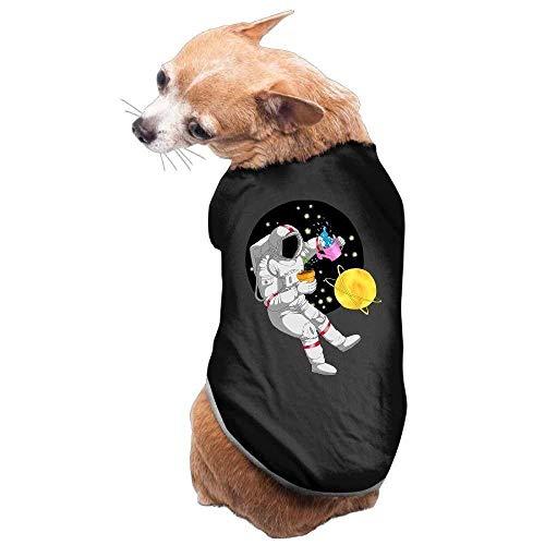 GSEGSEG Hundekleidung, Mantel, Kostüm, Pullover, Weste, für Hunde und Katzen, weich, dünn, Astronauten-Bewässerung mit Blumen, 3 Größen und 4 Farben erhältlich
