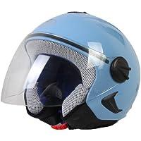 BHR Helm Demi-Jet Kinder, Hellblau, 53-54 (L)