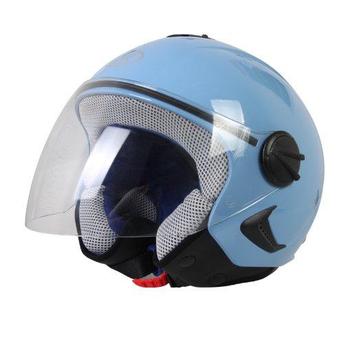 BHR Helm Demi-Jet Kinder, Hellblau, 51-52 (M)