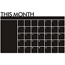 Malloom@ 60x92 cm plan de Mes calendario MEMO pizarra vinilo etiqueta de la pared