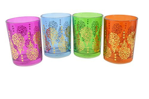 TMD Holdings TMD0505 Double Old Fashion Henna Rocks Glass (Set of 4 ), 12 oz, Gold by TMD Holdings 12 Oz Double Old Fashion