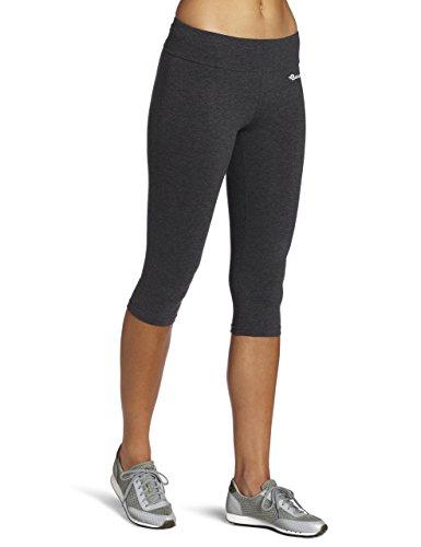 BAOMOSI Damen Leggings/Caprihose, Baumwolle, für Yoga, Laufen, Workout Gr. M, grau