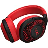 Boat Rockerz 550 Over-Ear Wireless Headphone with Ergonomic Aesthetics, Plush Padded Earcups, Immersive Audio, Bluetooth v5.0 & Upto 20H Playback (Furious Red)