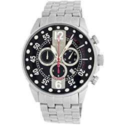Roberto Bianci Gents 'Pro Racing' Stainless Steel Chrono Watch with Black Dial