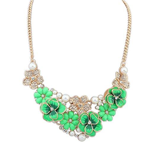 Les Femmes D'un Alliage Collier Personnalité Diamant Réglable Motif Chaîne Des Chaînes green