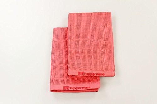 TUPPERWARE FaserPro Glas rot T22 Fenster Mikrofasertuch Glastuch (2) 16904