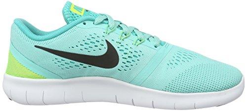 Nike (Nikmm) Free Rn (Gs), Chaussures de Fitness Mixte Enfant Türkis (Türkis/Schwarz/Gelb)