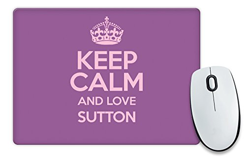 """Colore: viola, motivo: """"Keep Calm and Love Sutton-Tappetino per il Mouse COLOUR 0638-Stivaletti alla caviglia"""