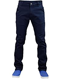 New Mens Designer Skinny fit Stretch Chino Straight Leg Trousers Pants