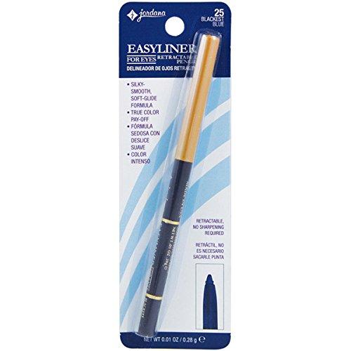 JORDANA Easyliner For Eyes Retractable Pencil - Blackest Blue - Jordana Liquid