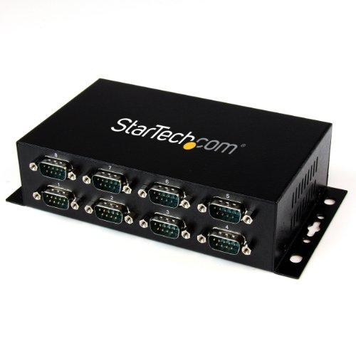 StarTech.com 8 Port USB auf Seriell RS-232 Adapter Hub - DIN-Schienen und Wandmontage fähig - USB zu RS232 DB9 Konverter