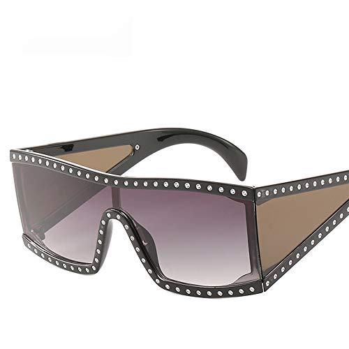 OVERMAL Sonnenbrillen, Damen Große Gerahmte Sonnenbrillen Mit Diamant Sonnenbrillen Und Einteilige Sonnenbrillen Brillen