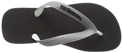 Havaianas - Top Mix - Flip Flops - Unisexe Noir (BLACK/STEEL GREY 6328)