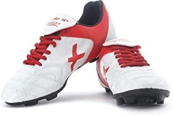 Vector X Fusion Kids White Red Football Shoes