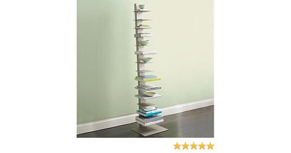 Libreria bookcase sapiens h.152 cm white: amazon.co.uk: kitchen & home