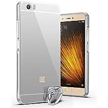 Funda Espejo Aluminio Metal Carcasa para Xiaomi MI5 Color Plata