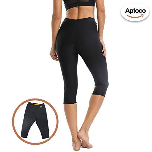 g-smart Shaper Sweat Pants Damen Slimming Hose Hot thermo Schweiß Neopren Body Shapers Gürtel Taillenmieder Girdle S (Die Ausübung Strumpfhosen)