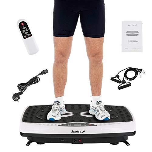 Wefun Fitnessplatte Vibrationstrainer für den Büro-Wohnzimmer-Körper-Former, Nicht Beleg-Antrieb Oberfläche + LCD-Schirm + Fernbedienung Abnimmt (E Schwarz)