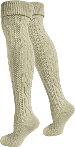 normani 2 Paar Oktoberfest Kniestrümpfe Trachten Socken Extra -