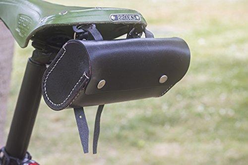 London Craftwork L07 - Sillín de Piel para Bicicleta, Edición Limitada, Color Negro
