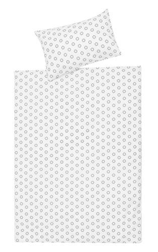 Schardt 13 609 1/764 2-teilige Kinderbettwäsche Circle Star, grey