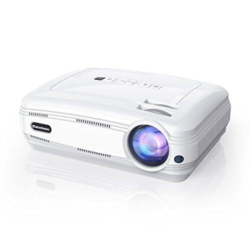 """Excelvan BL59 - Proyector LED 1080P (Sistema Android 6.0, 3200 Lúmenes, WIFI,1280 x 768, Proyeccion 32"""" - 200"""", 4:3 16:9, 3000:1, Soporta Airplay, Miracast, Ordenador, Duplica Pantalla, Altavoz)(Blanco)"""